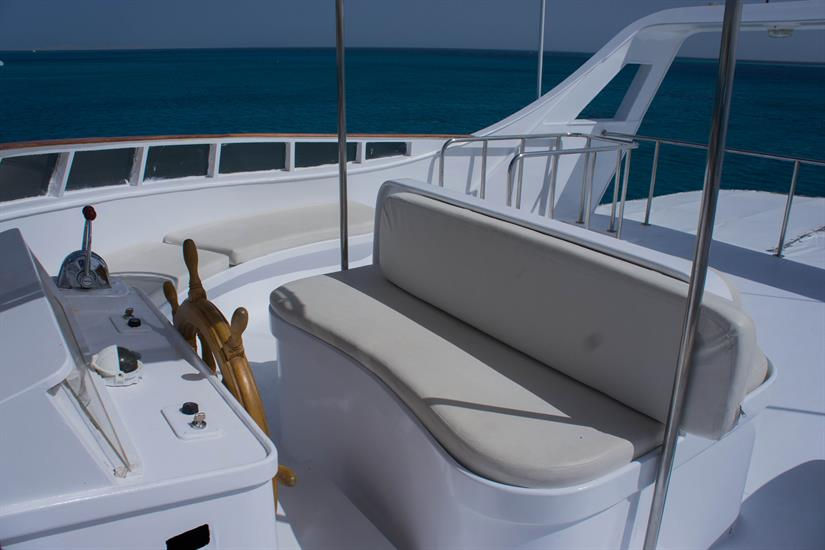 Sun Deck area - Blue Pearl Liveaboard