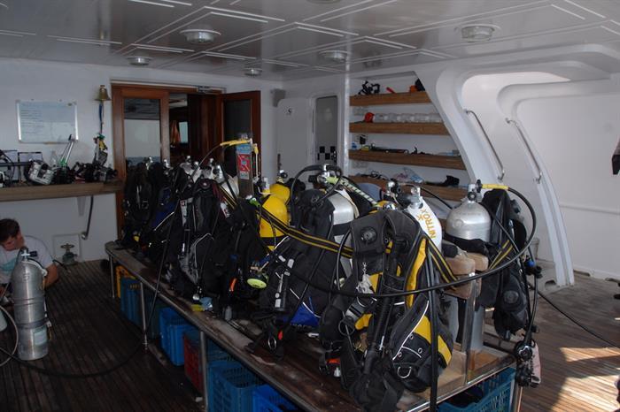 Blue Seas Liveaboard - Dive deck area