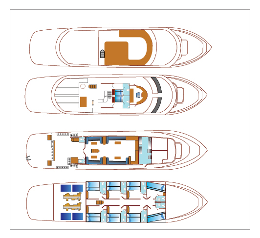 Blue Planet 1 Deck Plan floorplan