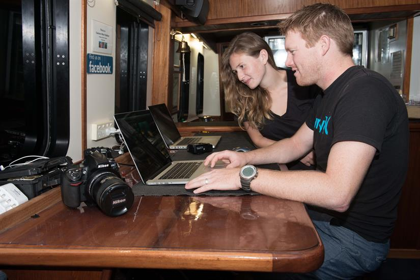 Laptops for guest use - Spirit of Freedom Liveaboard