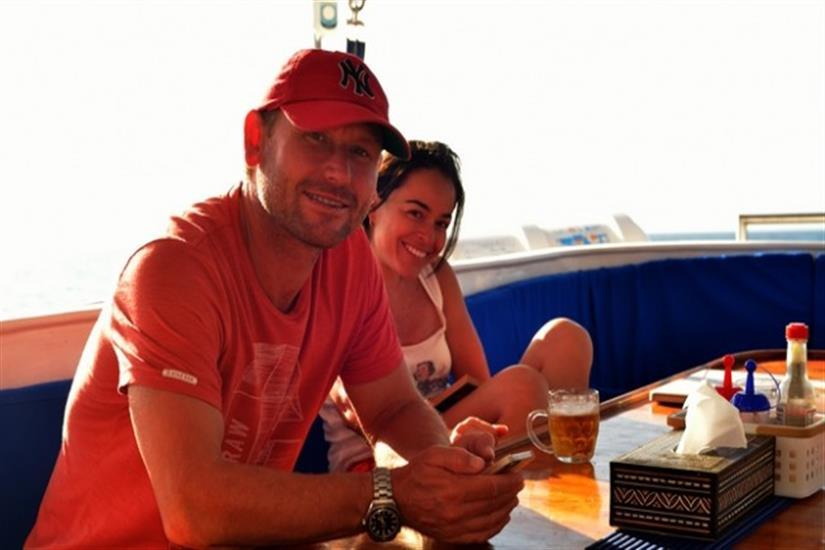 Relaxing aboard the Fiji Siren