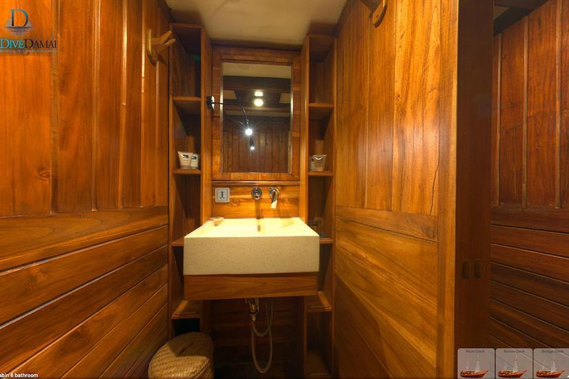 All cabins have en-suite bathrooms - Damai One