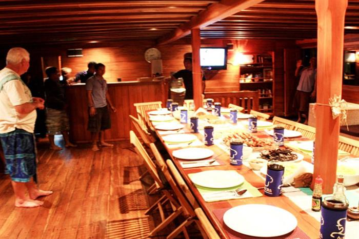 Indoor Dining Area - Aurora Liveaboard