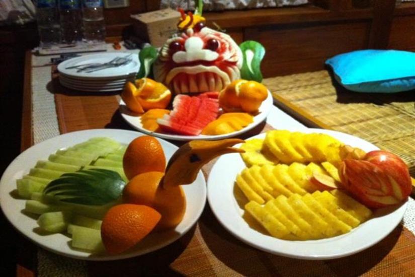 Fresh Fruit aboard the Aurora Liveaboard