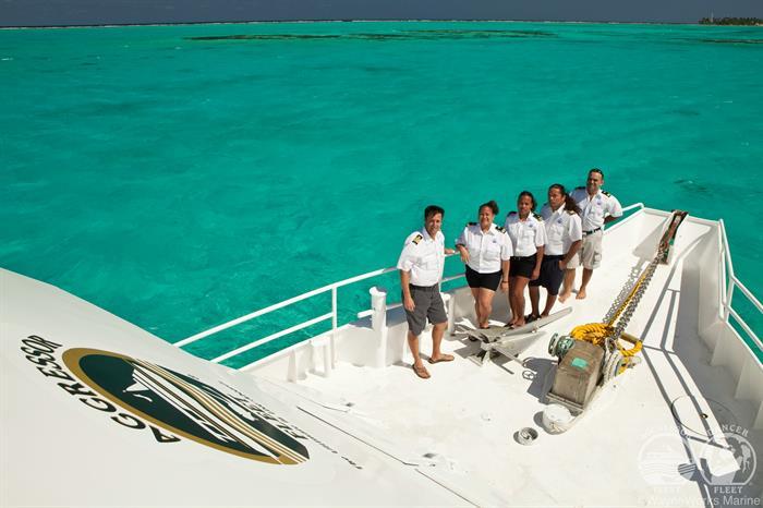 Crew onboard Belize Aggressor III Liveaboard