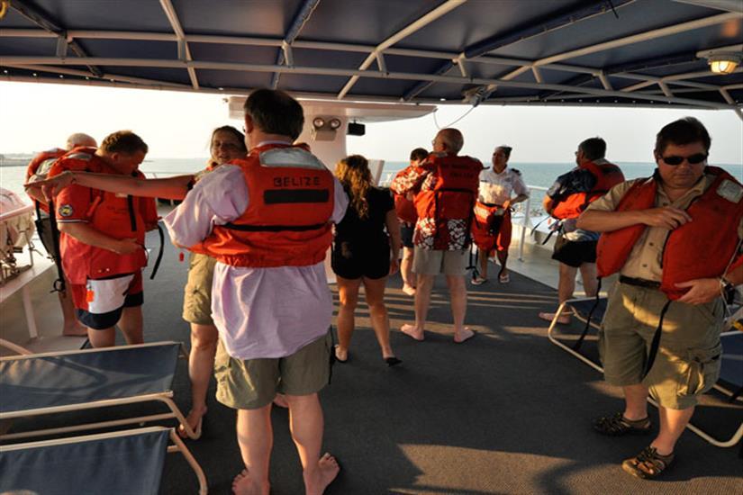 Belize Aggressor IV Liveaboard Dive Deck