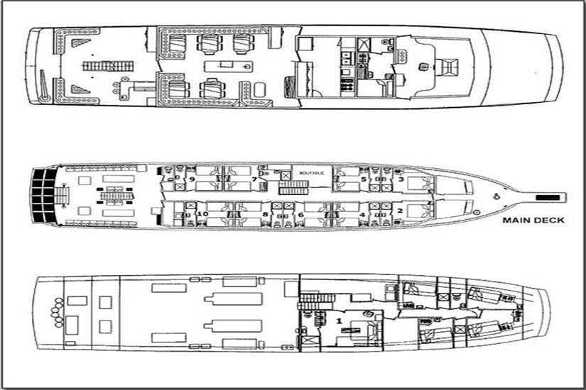 Belize Aggressor IV Liveaboard Deck Plan