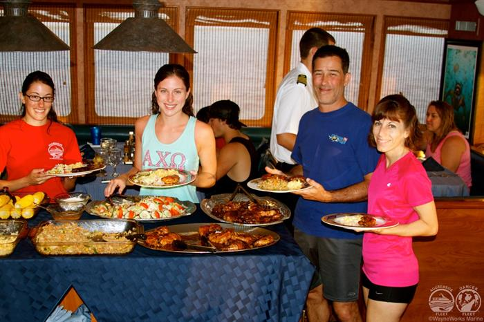 Belize Aggressor IV Liveaboard Buffet