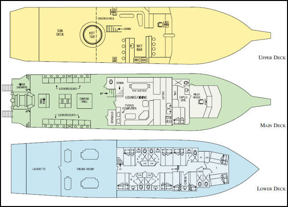 Bahamas Aggressor Deck Plan floorplan