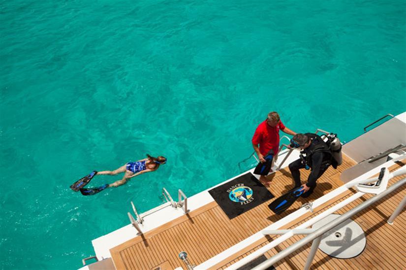 Bahamas Aggressor Spacious Dive Deck