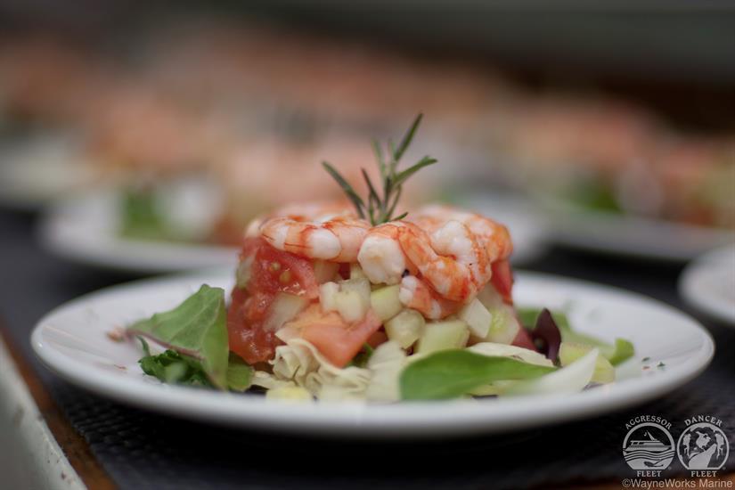 Delicious food aboard Cayman Aggressor IV Liveaboard