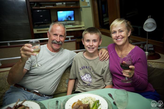 Dinner aboard Cayman Aggressor IV Liveaboard