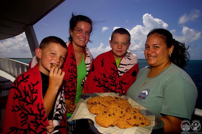 Snacks aboard Cayman Aggressor IV Liveaboard