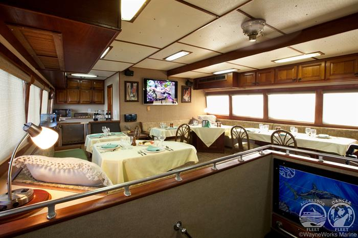 Cayman Aggressor IV Liveaboard Dining Area