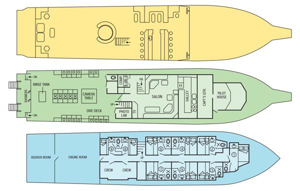 Cayman Aggressor IV Liveaboard floorplan