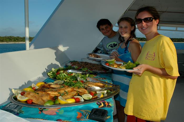 Cayman Aggressor IV Liveaboard Buffet Lunch