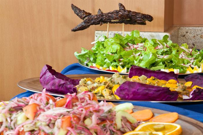 Dining aboard Galapagos Aggressor III Liveaboard