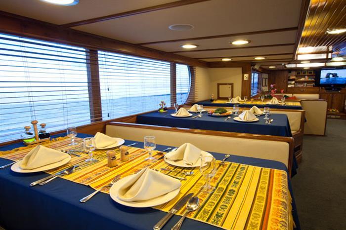 Galapagos Aggressor III Liveaboard Dining Room
