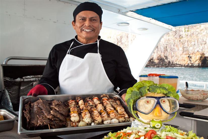 Galapagos Aggressor III Liveaboard BBQ