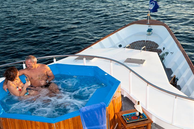 Galapagos Aggressor III Liveaboard Hot Tub