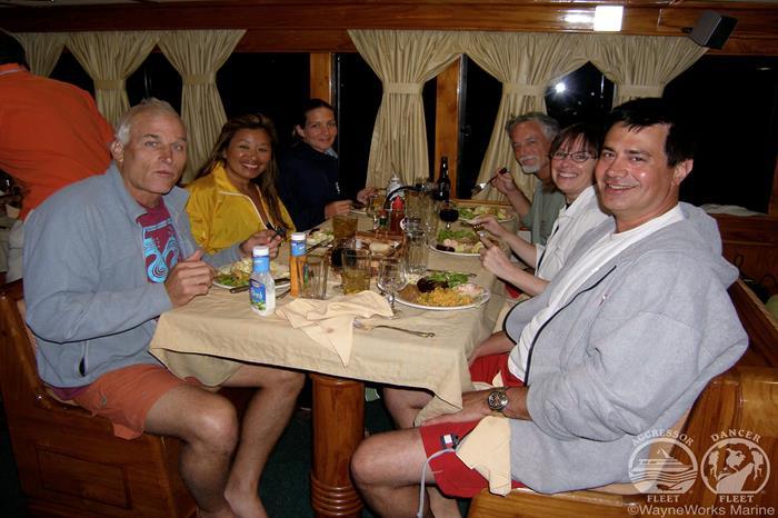 Dining area Galapagos Aggressor III Liveaboard