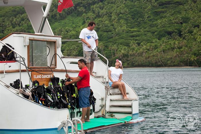 Fiji Aggressor Liveaboard Dive Deck