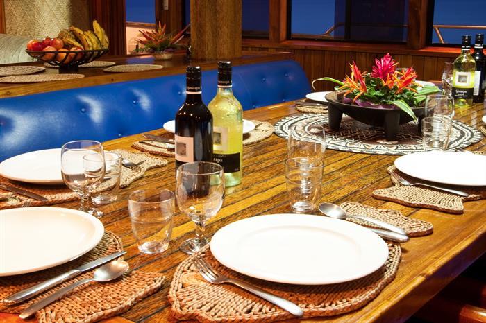 Fiji Aggressor Liveaboard Dining Area
