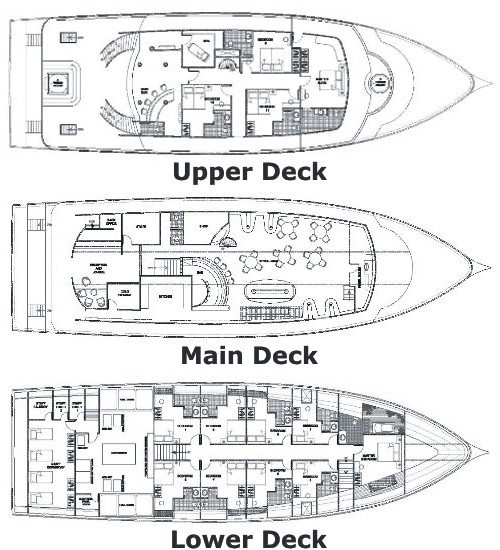 MV Orion Liveaboard Deck Plan floorplan