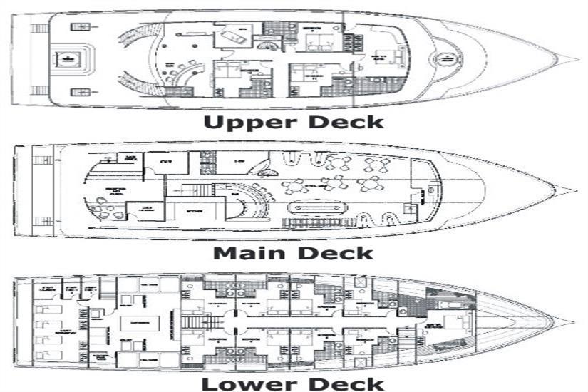 MV Orion Liveaboard Deck Plan