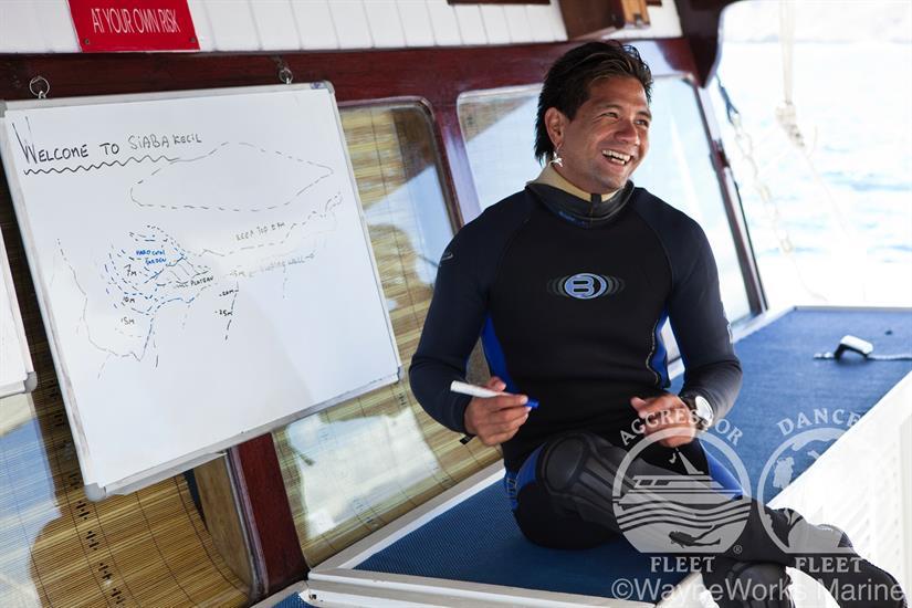 Detailed Dive Briefing aboard the Indo Aggressor Liveaboard