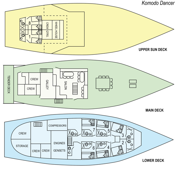 Deck Plan Indo Dancer floorplan