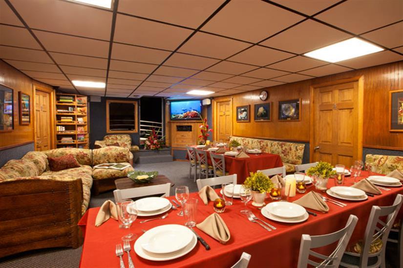 Kona Aggressor II Liveaboard Dining Area