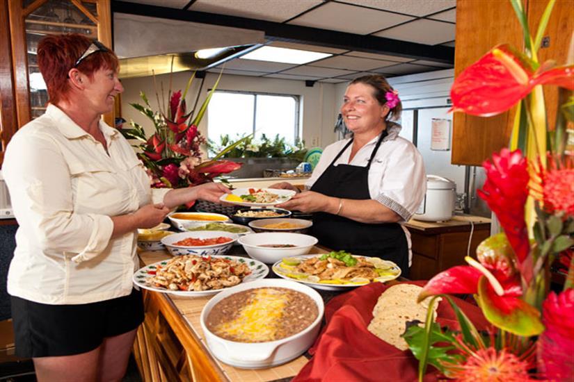 Cuisine aboard Kona Aggressor II Liveaboard
