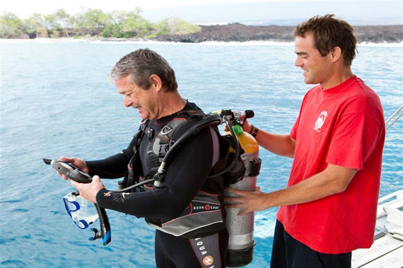 Kona Aggressor II Liveaboard Dive Deck