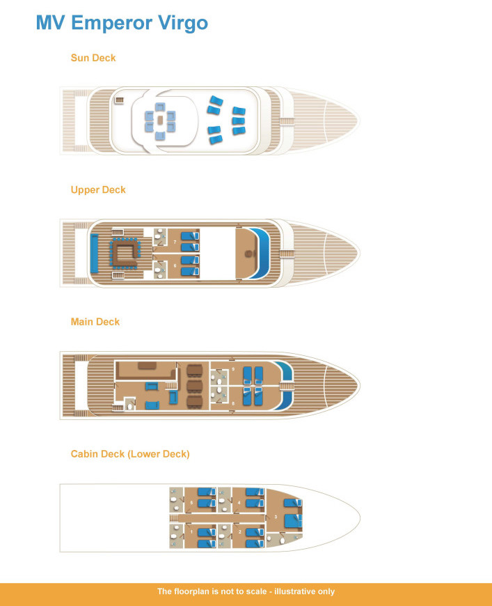 Deck Plan Emperor Virgo floorplan