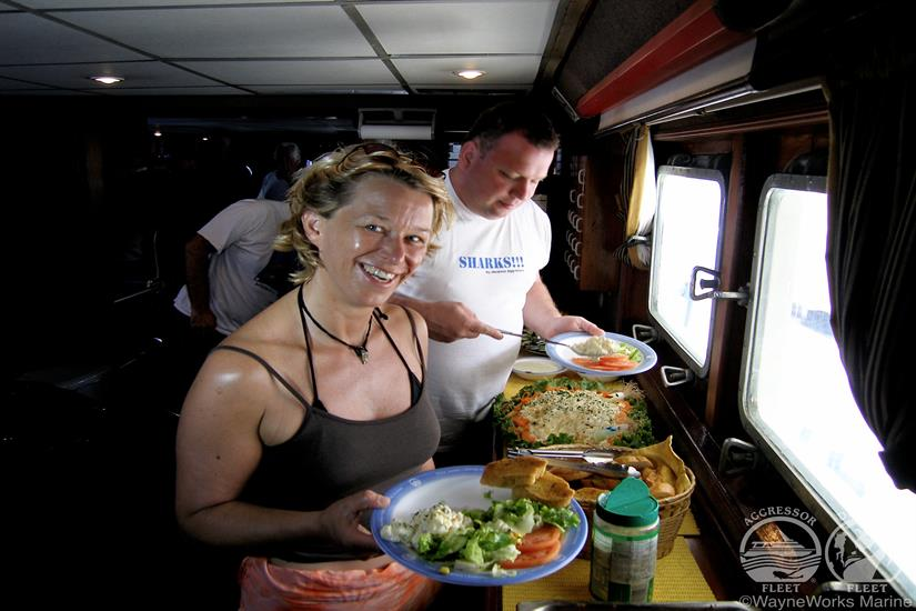 Okeanos Aggressor Liveaboard Buffet Meal