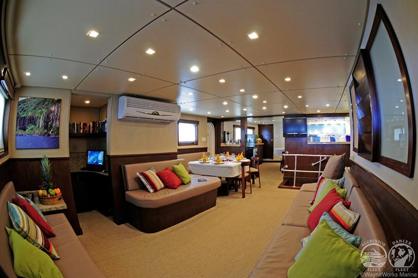 Okeanos Aggressor Liveaboard Indoor Saloon