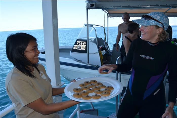 Palau Aggressor II Liveaboard After Diving Snacks