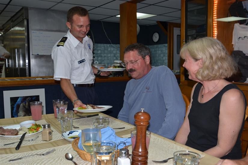 Palau Aggressor II Liveaboard Table Service