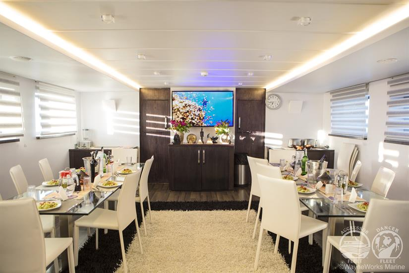 Red Sea Aggressor Liveaboard Dining Room