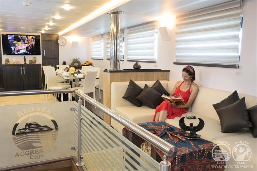 Red Sea Aggressor Liveaboard Indoor Salon