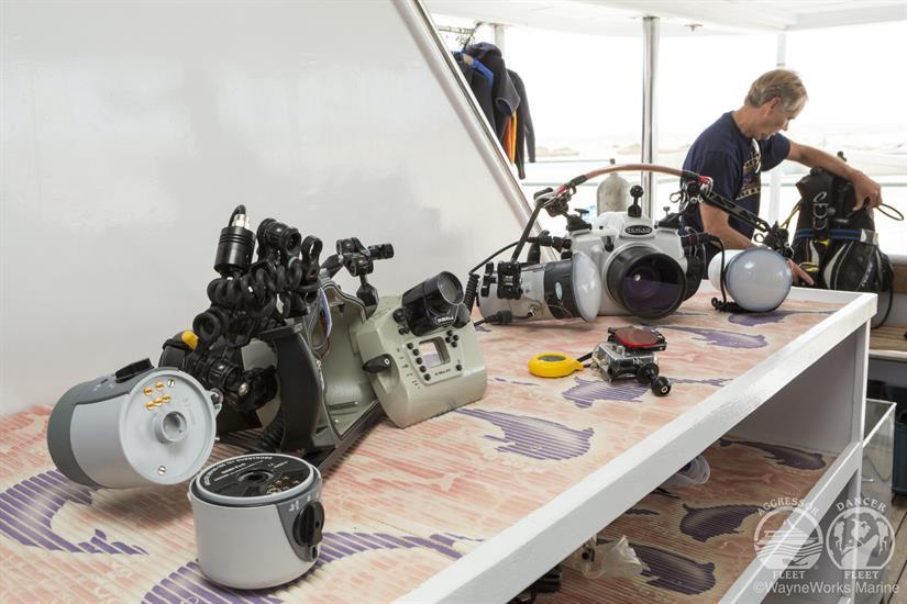 Red Sea Aggressor Liveaboard Camera Table