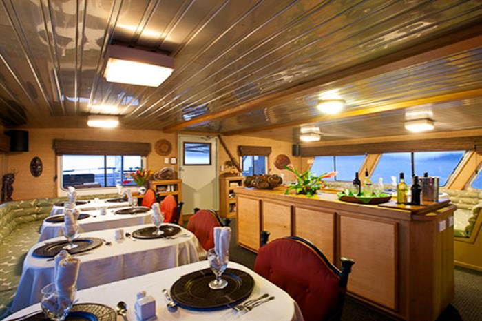 Thailand Aggressor Liveaboard Dining & Bar Area