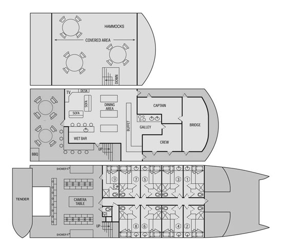 Rock Islands Aggressor Liveaboard Deck Plan floorplan