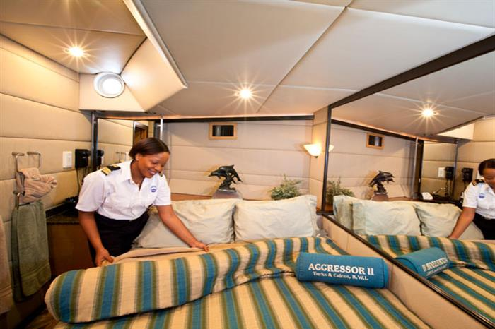 Turks and Caicos Aggressor Liveaboard Master Stateroom