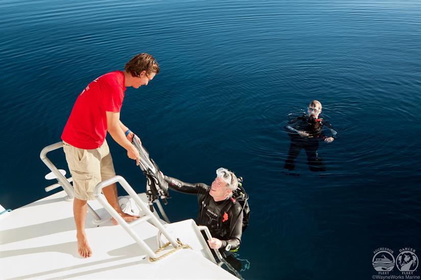 Turks and Caicos Aggressor Liveaboard Dive Deck