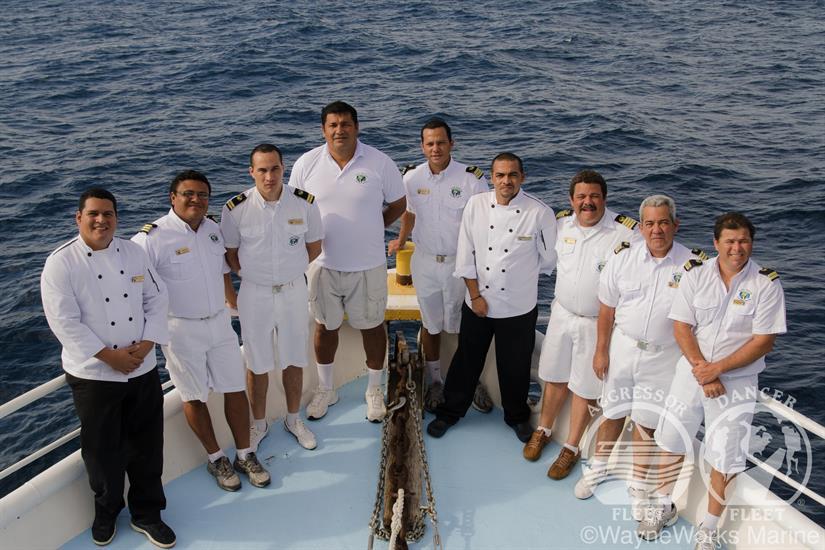 Crew aboars the Okeanos Aggressor II