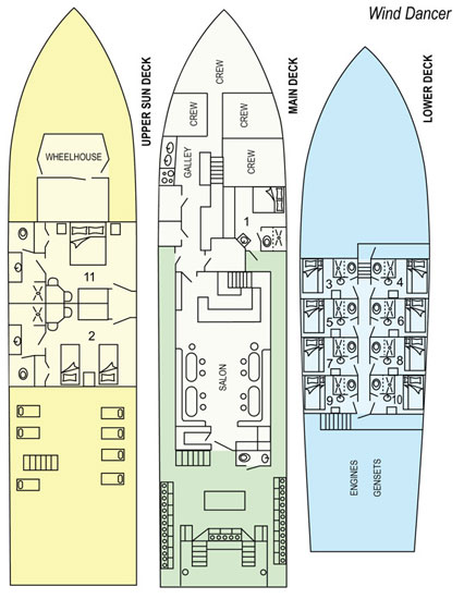 Deck Plan Okeanos Aggressor II floorplan