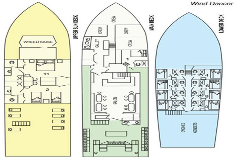 Deck Plan Okeanos Aggressor II