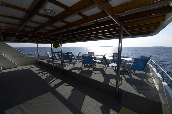 Relaxing on the top deck - Amba Liveaboard